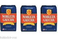 (3 PACK )YERBA MATE NOBLEZA GAUCHA 2.2LB/1KG  CON PALO/ WITH STEM