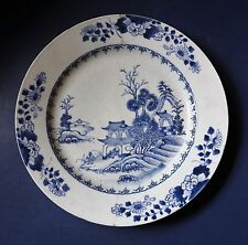 LARGE CHINESE BLUE & WHITE CHARGER - 13 INCHES - QIANLONG PERIOD - 18TH CENTURY