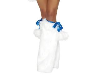 J Valentine Womens Spike Faux Fur Legwarmers