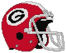 Counted Cross Stitch Pattern, Georgia Bulldogs Helmet - Free US Shipping