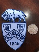 """University Of Buffalo Vintage Embroidered Iron On Patch (Nos) 4"""" X 2.5"""" Nice"""