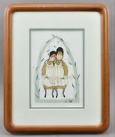 P. Buckley Moss SISTER IN ARMS Offset Lithograph AP COA Signed Framed