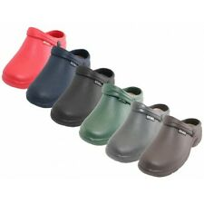 Clogs for medical,waitress, gardening, wet weather casual with jeans, Dark color