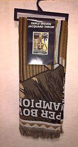 2010 New Orleans Saints SUPER BOWL XLIV Champions TRIPLE JACQUARD THROW Blanket