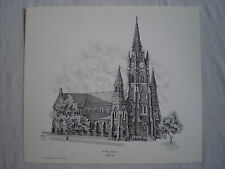 ERIE PA ST. PETER'S CATHEDRAL PREP CHURCH ARTIST SIGNED WALL ART PRINT #/550