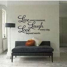 Unbranded Bedroom Words & Phrases Wall Stickers
