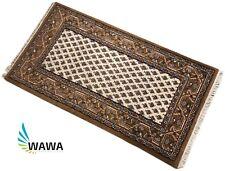 Orientteppich Mir 70X140 cm  Handgeknüpft 100% Wolle Braun Beige Cream Teppich