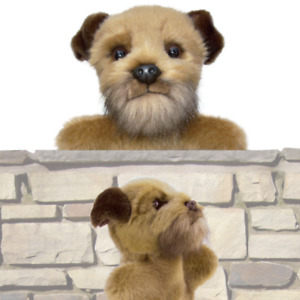 "12"" Border Terrier puppet BORDER TERRIERS dogs plush dog hand puppets puppies"