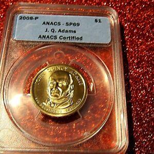 2009-P John Quincy Adams Presidential Dollar MS69 SF ANACS