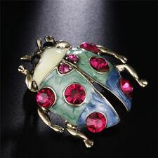 Ladybug Crystal Brooches Pins Rhinestone Brooch Wedding Clothes Decor JewelryHG