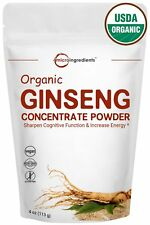 Maximum Strength Organic Ginseng Root 200:1 Extract Powder (4 Ounce). Powerfu...