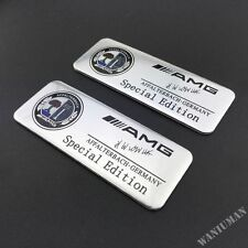 2x Mercedes AMG PLAKETTE Emblem Logo Schriftzug B E C SL CLS S CL A ML Aufkleber