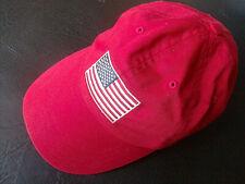 AMERICAN FLAG Cap Hat RED