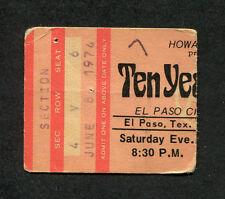 1972 Ten Years After King Crimson Robin Trower concert ticket stub El Paso Texas