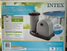 Intex 28635Eg 1500 Gph Krystal Clear Cartridge Filter Pump for Above Ground Pool