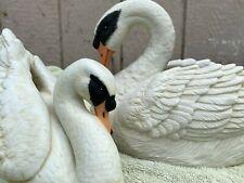 Vintage Willitts Designs lot of 2 1985 Swan Musical & swan planter