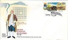 Chile 1991 FDC 200 años Fundacion de Los Andes