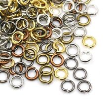 Packet 500+ Mixed Plated Iron Round Open Jump Rings 0.7 x 6mm HA11495