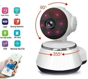 Wireless Spy Nanny Cam 720p HD IR security Night Vision WIFI CCTV Rotate Camera