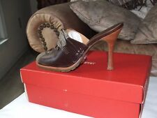 new in box Espirit Brown Leather  High Heels size  6.5 m