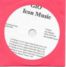 GIO - Falling in love again Promo CDr SINGLE 6TR Eurodance Hi-Nrg 2008 RARE!