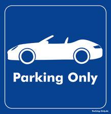 Parking Only-PORSCHE 911/997 Cabrio-Autocollant