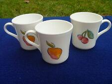 3 Corning Corelle USA Fruit Basket Too Apple Pear Cherries Mug Cup Lot