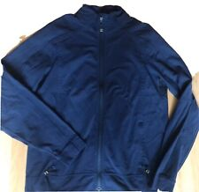 LULULEMON Mens Race Run Track Jacket size L Navy Blue Gym