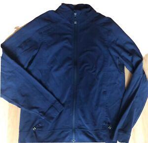 LULULEMON Mens Race Run Track Jacket size L Navy Blue Gym Thick  Stretch Luon