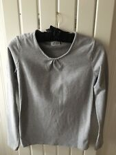 Maternity Clothing Size 6 - Grey Stretch Long Sleeve Maternity Top By NEXT