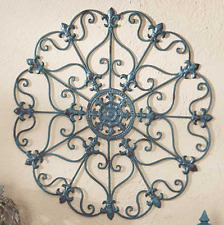 Indoor Outdoor Wall Decor Metal Scroll Unique Living Sun Room Fence Front Porch