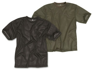 Mil-Tec T-Shirt Schwarz Oliv S-3XL Mesh-Gewebe Herrenshirt Jungleshirt