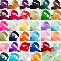 1m Cut Lengths Double Sided Satin Ribbon 3mm 6mm 10mm 16mm 25mm 38mm Craft Sew