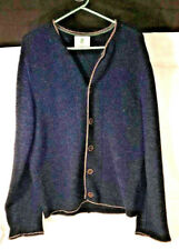 Trachtler Navy Thick Pure New Schurwolle Wool Cardigan Size M / D 50