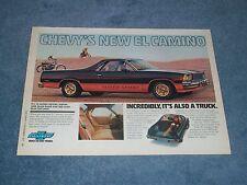 "1978 Chevy El Camino Super Sport Vintage Ad ""Incredibly, It's Also A Truck"""