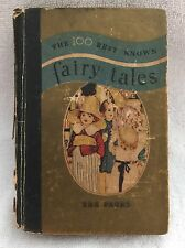 THE 100 BEST KNOWN FAIRY TALES - 1933 WHITMAN PUBLISHING CO - 288 PAGES - USED