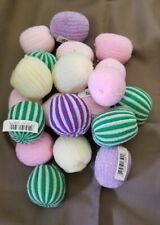 Cat Toy Set of 20 Soft Fabric Balls Multi Colored