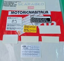 APRILIA SCARABEO 50 STREET 99  ADESIVI CARENE STICKERS FAIRING DECAL ADESIVO