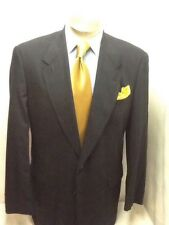 Mens HART SCHAFFNER blue single vent glenn plain suit sz 44XL