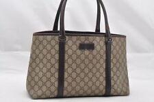 Authentic GUCCI GG Plus PVC Leather Shoulder Tote Bag Brown 63320