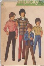 Vintage Boys Jacket, Shirt & Pants Sewing Pattern S9595 Size 10