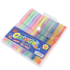 12Pcs Glitter Gel Pens Set Sparkled for Coloring Book Drawing Doodling Sketching