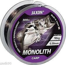 300M JAXON MONOLITH CARP PROFESSIONAL FISHING LINE EXTRA STRONG MONOFILAMENT