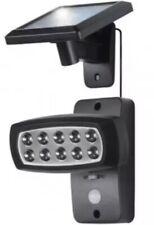 Livarno LED Solar Garden Spotlight Shed Garage PIR Motion Detector 10 LED Light