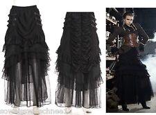 Gothic Steampunk RQ-BL  Rock black Spitze Lolita Skirt Victorian Lace Tüll SP120
