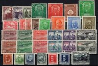 P135072/ SPAIN STAMPS – YEARS 1931 - 1936 MINT MH SEMI MODERN LOT – CV 131 $