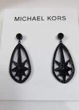 Michael Kors Black Ion-Plated Pave Starburst Drop Earrings $115
