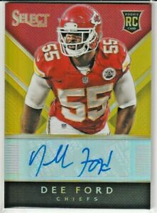 Dee Ford Kansas City Chiefs SF 49ers 2014 Select Rookie Gold Prizms AUTO RC /5