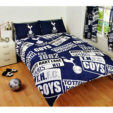 NEW TOTTENHAM HOTSPUR SPURS FOOTBALL DOUBLE DUVET QUILT COVER SET KIDS BEDROOM