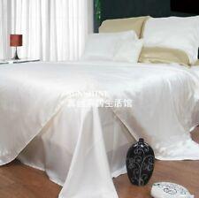 100% Seide Bettwäsche 2x Kissenbezug+2x Bettbezug 4-tlg 12 Farbe 19m/m BW0025